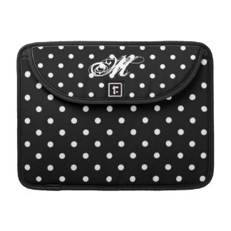 Black/White polka Dots Mackbook Sleeve