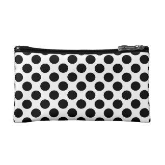 Black & White Polka Dots Makeup Bag