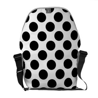 Black & White Polka Dots Courier Bags