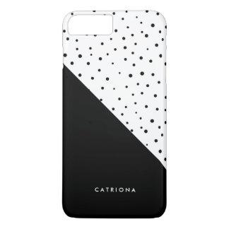 Black & White Polka Dots Patten Abtract Custom iPhone 8 Plus/7 Plus Case