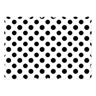 Black White Polka Dots Pattern 13 Cm X 18 Cm Invitation Card