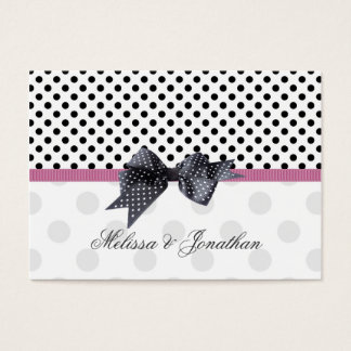 Black, white polkadot Thank you Wedding/Gift Tag