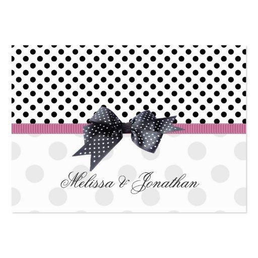 Black, white polkadot Thank you Wedding/Gift Tag Business Cards