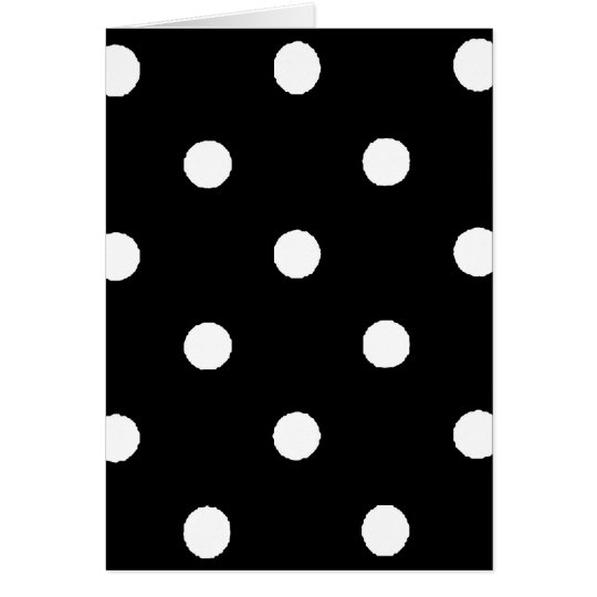 black & white polkadots card