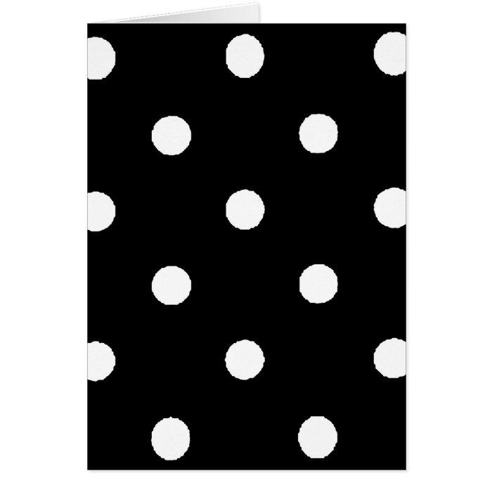 black & white polkadots greeting card