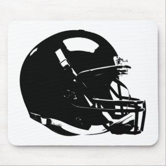 Black White Pop Art Football Helmet Mouse Mat