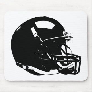 Black White Pop Art Football Helmet Mouse Pad