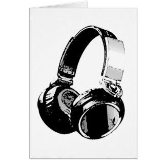 Black & White Pop Art Headphone Card