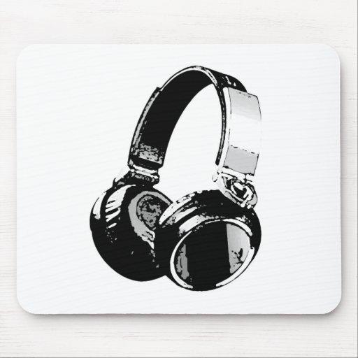 Black & White Pop Art Headphone Mousepad