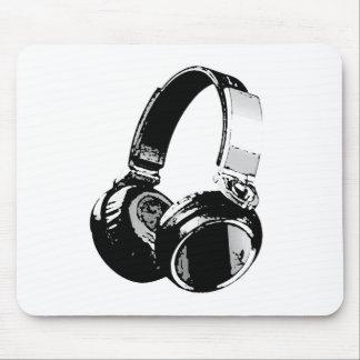 Black White Pop Art Headphone Mousepad