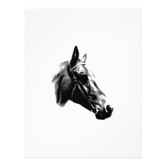 Black & White Pop Art Horse 21.5 Cm X 28 Cm Flyer