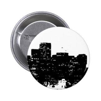 Black White Pop Art New York City 6 Cm Round Badge