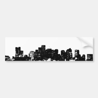 Black White Pop Art New York City Bumper Sticker