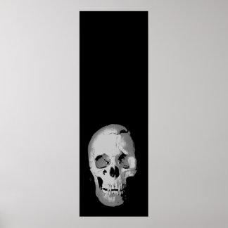 Black White Pop Art Skull Fantasy Artwork Poster