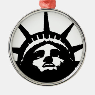 Black White Pop Art Statue of Liberty Christmas Ornament