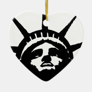 Black White Pop Art Statue of Liberty Christmas Ornament