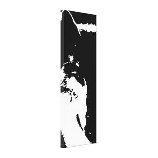 Black & White Pop Art Wolf Canvas Print