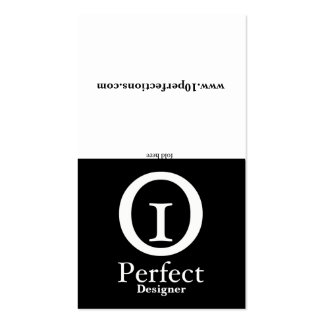 Black & White - Portfolio Pack Of Standard Business Cards