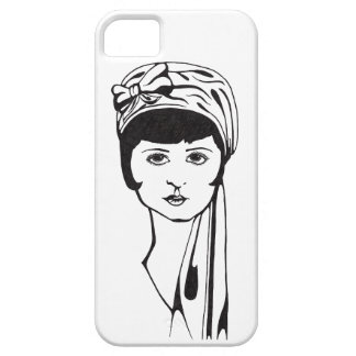 Black/White Portrait Phone Case (solid) Barely There iPhone 5 Case