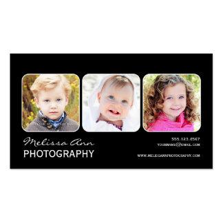 Black White Portrait Photographer Business Card
