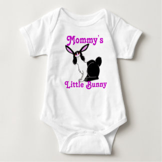Black & White Rabbit Custom Kids Shirt - Pink Text