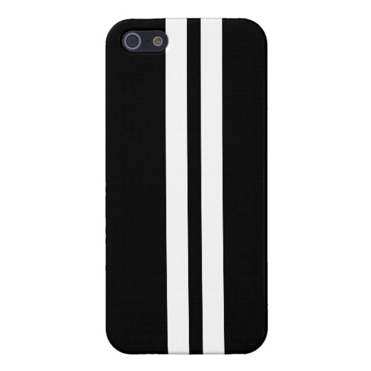 Black & White Racing Stripe iPhone 5 Case
