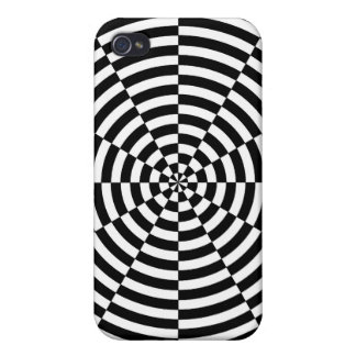 Black & White Radiation by Kenneth Yoncich Cover For iPhone 4