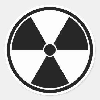 Black & White Radiation Symbol Sticker