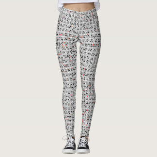 Black White Red Abstract Pattern Chic Leggings