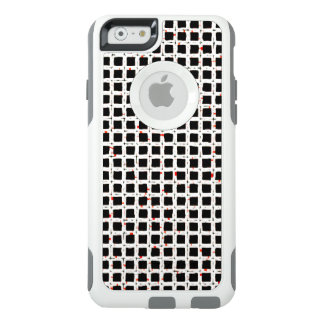 Black White Red Abstract Pattern Chic OtterBox iPhone 6/6s Case