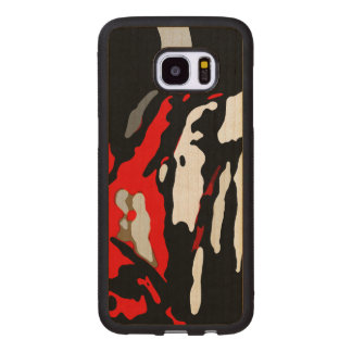 Black White Red Abstract Pattern Wood Samsung Galaxy S7 Edge Case