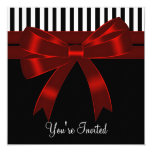 Black White Red All Occasion Party Invites