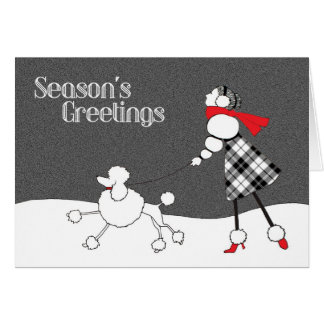 Black White Red Christmas Card