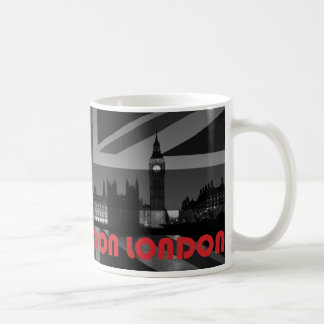 Black, White & Red London Mug Featuring Union Jack