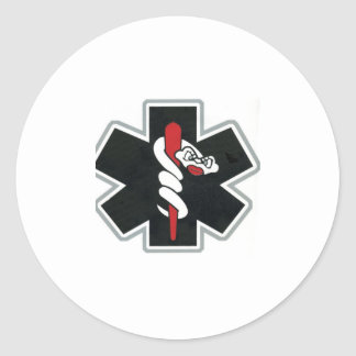 black white red round stickers