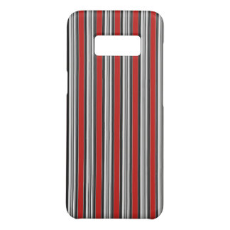 Black White Red Stripes Cool Simple Patterns Case-Mate Samsung Galaxy S8 Case