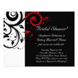 Black, White, Red Swirl Bridal Shower / General