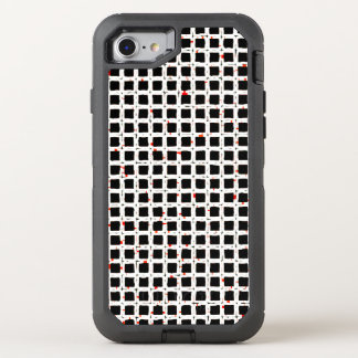 Black White Red Trendy Pattern OtterBox Defender iPhone 8/7 Case