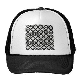 Black & White Regal Pattern Cap