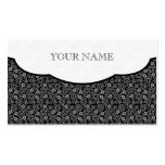 Black & White Retro Floral Dot Pattern Pack Of Standard Business Cards