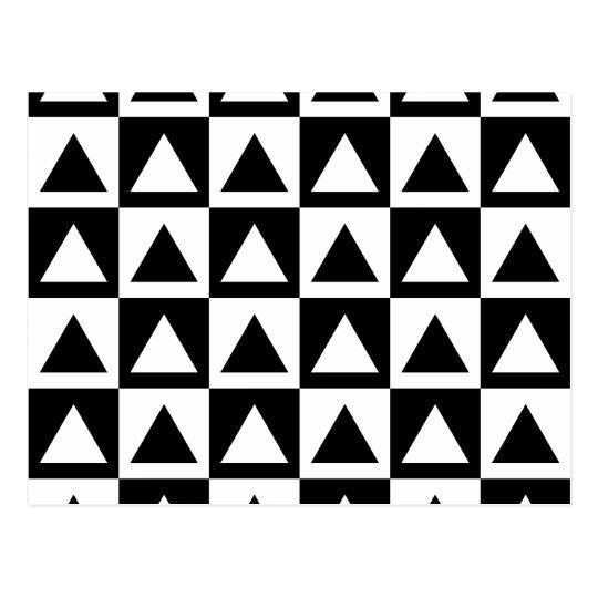 Black & White Retro Geometrics Postcard