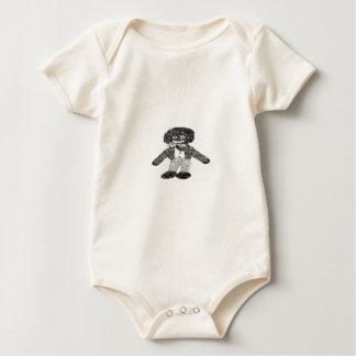 Black & White Retro Golly Baby Bodysuit