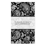 Black & White Retro Paisley Pattern 2 Design Pack Of Standard Business Cards
