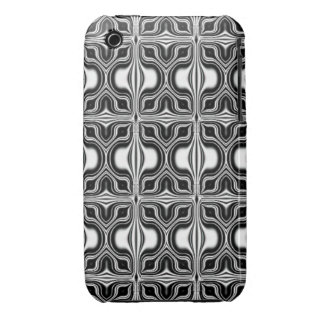 black white retro pattern iPhone 3 covers