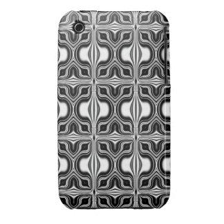 black white retro pattern iPhone 3 covers