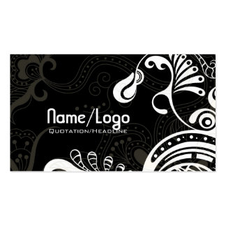 Black & White Retro Phoenix Bird-Template Pack Of Standard Business Cards