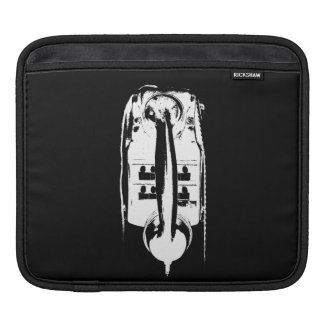 Black & White Retro Phone - Rickshaw Tablet sleeve