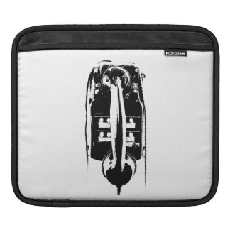 Black & White Retro Phone - Tablet Sleeves
