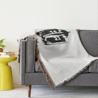 Black & White Retro Phone - Throw blanket