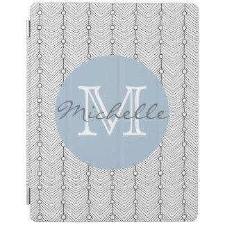 Black & White Retro Print Personalized iPad Cover